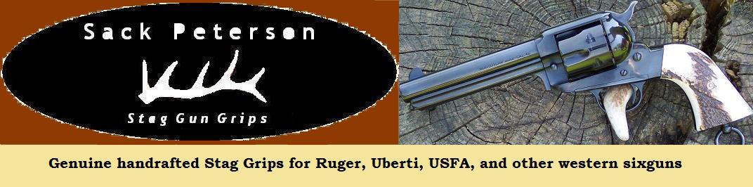 Stag grips for sixguns   Rugers, Uberti's, more